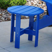 Traditional Adirondack Side Table, Blue