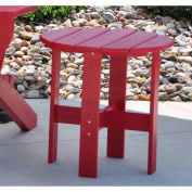 Traditional Adirondack Side Table, Red