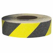 """Self-Adhesive Anti-Slip Floor Tape in Rolls - 2""""Wx60'L Roll - Black/Yellow Stripes"""