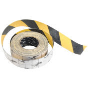 "INCOM Anti-Slip Traction Yellow/Black Hazard Striped Tape Roll, 4"" x 60'"