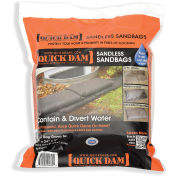 "Quick Dam 24""L x 12""W Sandless Sandbags - 6 Bags/Pack"