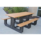 Recycled Plastic 6 Ft. Park Place Picnic Table, Gray