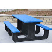Recycled Plastic 8 Ft. Park Place Picnic Table, Blue