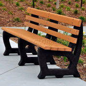 Recycled Plastic 6 Ft. Brooklyn Bench, Cedar