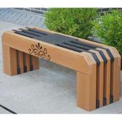 Recycled Plastic 4 Ft. Gateway Bench, Cedar