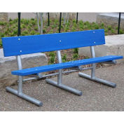 Recycled Plastic 6 Ft. Madison Bench, Surface Mount, Cedar Bench/Galvanized Frame