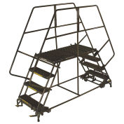 "Ballymore DEP5-3672 5 Step Heavy Duty Steel Double Entry Work Platform 36""W Steps"