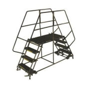 "Ballymore DEP4-2448 4 Step Heavy Duty Steel Double Entry Work Platform 24""W Steps"