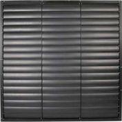 """Wall Exhaust Shutter Black Aluminum Frame / PVC Blade 36"""""""