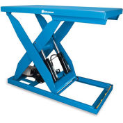 "BISHAMON OPTIMUS Hydraulic Scissor Lift Tables - 5000-Lb. Capacity - 32""Wx56""D Platform"