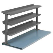 "3 Shelf Production Booster, 48""W X 36""H, Office Gray"