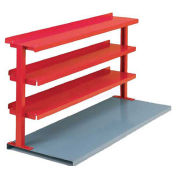 "3 Shelf Production Booster, 48""W X 36""H, Cherry Red"