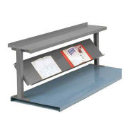 "2 Shelf Production Booster, 48""W X 24""H, Office Gray"