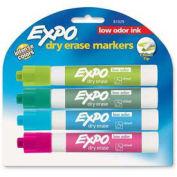 Sanford® Expo Low Odor Dry Erase Marker, Chisel Tip, Aqua/Lime/Pink/Turquoise Ink, 4/Pack