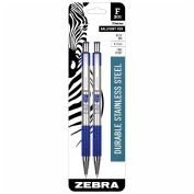 Retractable Ballpoint Pen F-301 - Blue Ink - 2 Pack