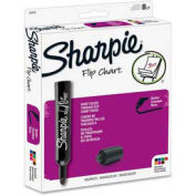 Sharpie® Flip Chart Marker, Bullet Point, Bleed Resistant, Assorted Ink, 8/Set