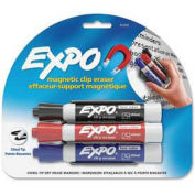 Sanford® Expo Mark Away Eraser Marker/Eraser, Black/Blue/Red Ink
