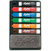 Sanford® Expo Low Odor Dry Erase Marker Organizer Kit, Chisel Tip, Assorted Ink, 6/Set