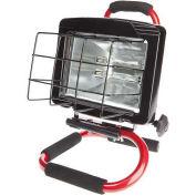 Portable Halogen Work Light, Red - Pkg Qty 2