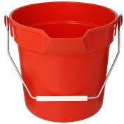 Impact 10 Qt. Deluxe Heavy-Duty Bucket, Red, 5510R - Pkg Qty 12