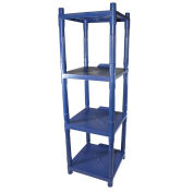 Stack Rack, 4 Shelf, Blue