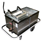 Impact Mopping Tank W/Two 30 Gallon Compartments & Bumper, Galv. Steel, 600
