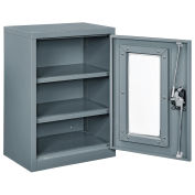 Assembled Clear View Wall Storage Cabinet, 18x12x26, Gray