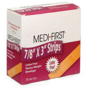 "Medique 61450 Flexible Bandage, Extra Heavy Weight, 7/8"" x 3"" Strip, 50/Box"