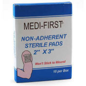 """Medique 64212 Non-Adherent Sterile Pads, 2"""" x 3"""" Pad, 10/Box"""
