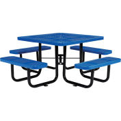"46"" Perforated Square Picnic Table, Blue"