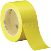 "Solid Vinyl Tape 1"" x 36 Yds 5.2 Mil Yellow, 6/Pack, 3M 471"