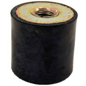 "J.W. Winco Vibration Mount, 2 Tapped Holes, 2"" Dia, 1.63""H, 3/8-16 Thread"