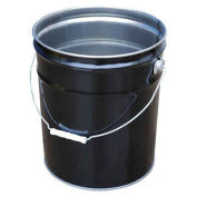 Vestil PAIL-STL-RI-UN, UN Rated 5 Gal Steel Open Head Pail, Rust Inhibitor Lining