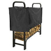 Pleasant Hearth 4' Heavy Duty Log Storage Rack with Half Cover, Weather-Resistant
