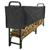 Pleasant Hearth 8' Heavy Duty Log Storage Rack with Half Cover, Weather-Resistant