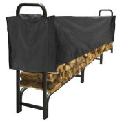 Pleasant Hearth 12' Heavy Duty Log Storage Rack with Half Cover, Weather-Resistant