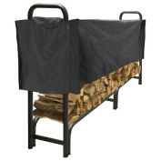 Pleasant Hearth 8' Log Storage Rack Half Cover, Weathered-Resistant, Polyester