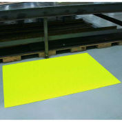 "Durable Corp Sof-Spun Anti-Fatigue Mat, 36"" x 60"", High Visibility Yellow"
