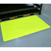 "Diamond-Dek Sponge Anti-Fatigue Mat, High Visibility Yellow, 24""x36"""