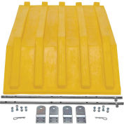 Yellow Plastic Lid, for Triple-Bin Recycling Hopper, Vestil PLID-H-50-YL