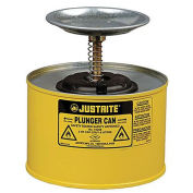 Justrite 10218 Plunger Can, 2-Quart, Yellow