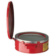 Justrite 10295 Bench Can, 2-Quart, Red