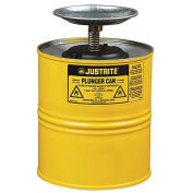 Justrite 10318 Plunger Can, 1-Gallon, Yellow