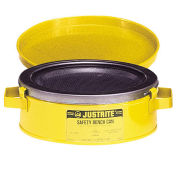 Justrite 10291 Bench Can, 2-Quart, Yellow