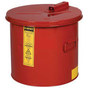Justrite 27605 Dip Tank, 5-Gallon, Red