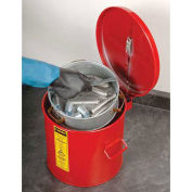 Justrite 27711 Wash Tank, 1-Gallon, w/ Basket, Red