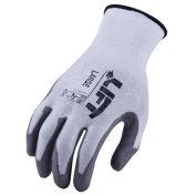 Lift Safety Cut Resistant Staryarn Polyurethane Latex Glove, Black/Gray, Large, 1 Pair