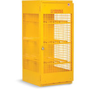 "RELIUS SOLUTIONS Horizontal Cylinder Cabinet - 30x32x33-1/2"" - 4 Cylinders - Aluminum - Set Up"