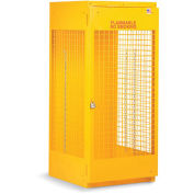 "RELIUS SOLUTIONS Upright Cylinder Cabinet - 30x32x65"" - 5-10 Cylinders - Aluminum - Set Up"