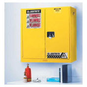 "17 Gallon 2 Door, Manual, Wall Mount, Flammable Cabinet, 43""W x 18""D x 24""H, Yellow"